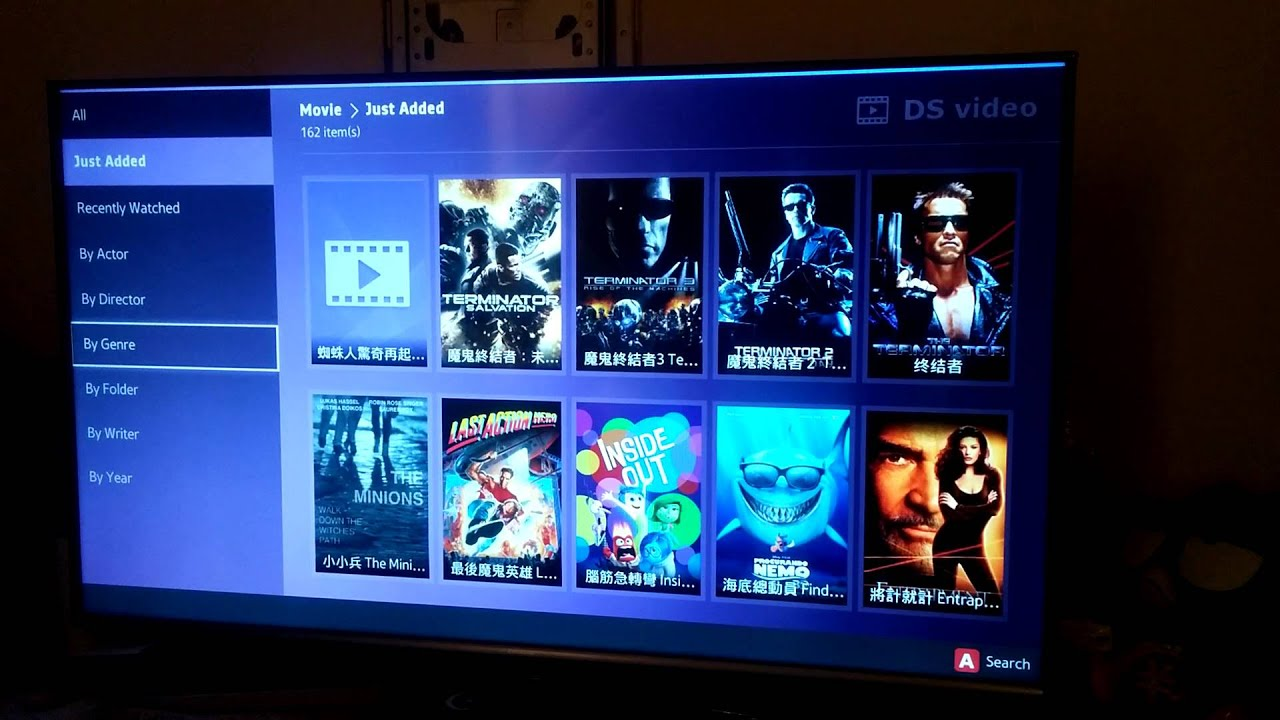 Samsung smart tv ds video