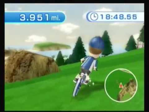 Wii Fit Plus Training Plus Part 2 5: Island Cycling Free Ride (20 Beach Balls)