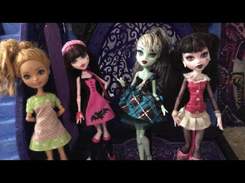 Lizzie's Thrift store doll haul! | Monster High Draculaura and Frankie and Ever After High Ashlynn