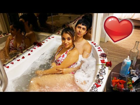 Surprising My Girlfriend With A Romantic Bubble Bath!!