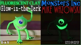 Play Doh Glow-in-the-dark Mike Wazowski Pixar Monsters Inc. Amos Iclay Fluorescent Modeling Compound