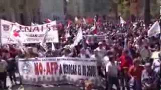 chile exigen el fin de las afp sistema de pensiones impuesto por la dictadura