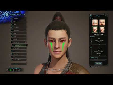 Monster Hunter World Female Character Creation & palico creation in Depth [PS4/XBOXONE]