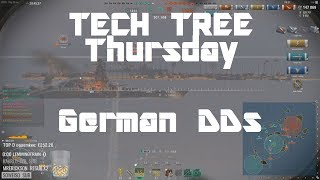 Highlight: Tech-Tree Thursday! German Destroyers!