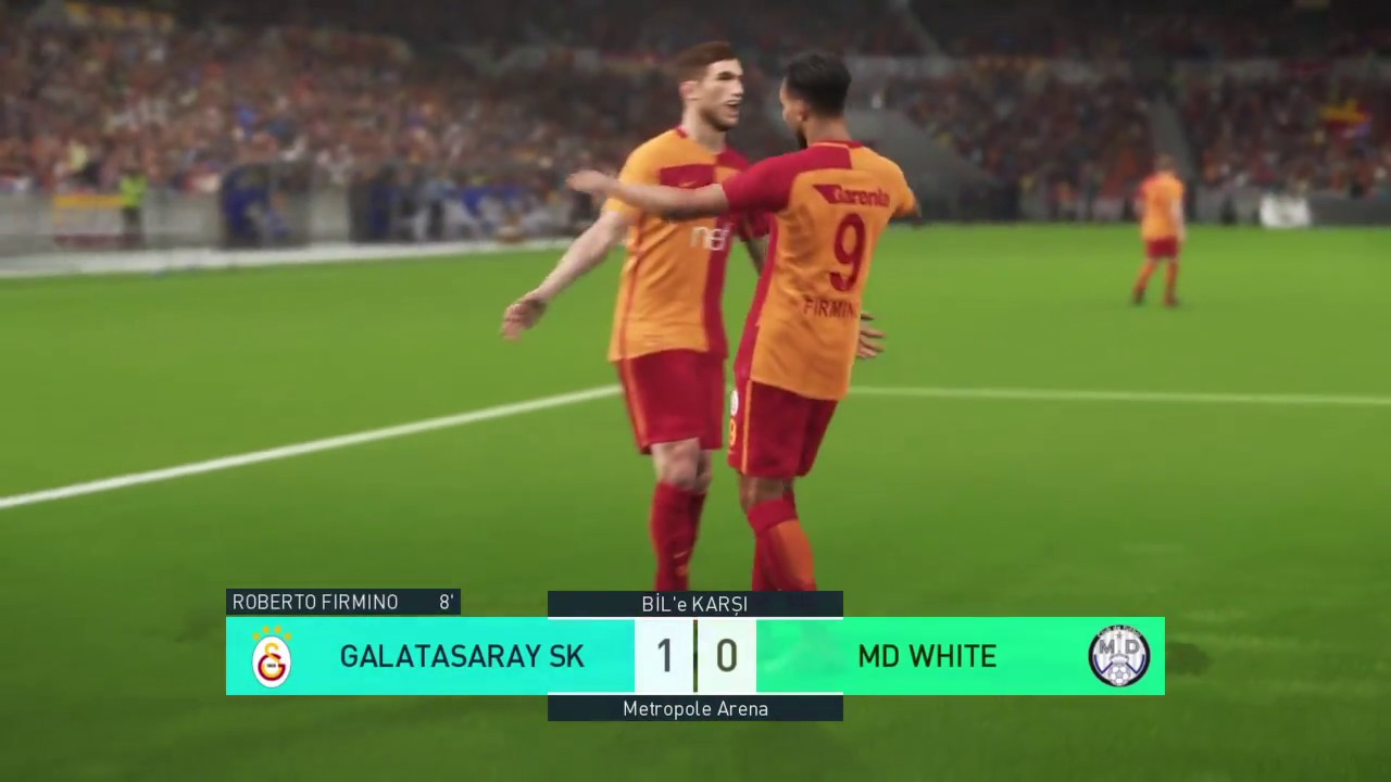 PES 2018 LITE EDITION GALATASARAY MD WHITE (REAL MADRID) MY CLUB GAMEPLAY  PS4