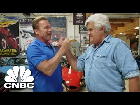 Arnold Schwarzenegger s Jay Leno His Mercedes Electric GWagen  Jay Leno's Garage  CNBC Prime