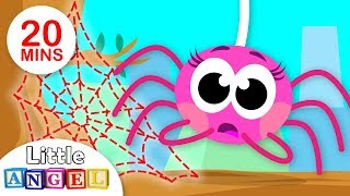 Did You See My Web? Itsy Bitsy Spider Lost her Web | Puppy Chase and more by Little Angel