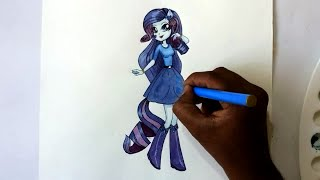 How to draw my little pony equestria girls rarity