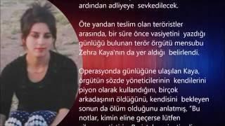 Günlüğene vasiyetini yazan PKK'lı terörist kız da teslim oldu