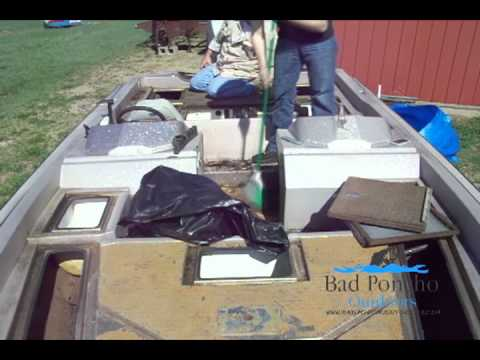 Bass Boat Restoration Day Two Rear Deck Carpet Removal