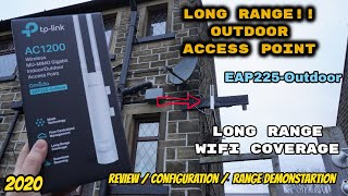 TP-Link AC1200 EAP225 Wireless Gigabit Indoor/Outdoor Access Point: Review Configuration Range Test