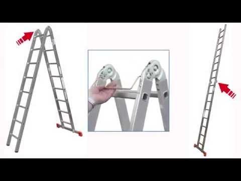Лестницы алюминиевые приставные KRAUSE