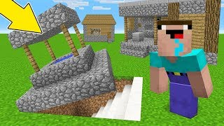 Minecraft Battle - NOOB vs PRO : WHAT VILLAGERS HIDE IN THIS BASE UNDER VILLAGE?! (Animation)
