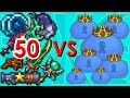 Terraria - 50 Strong Weapons vs King Slime | Biron