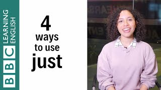 4 ways to uṡe just - English In A Minute