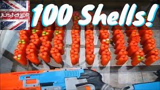 Vintage justajolt: 100 Nerf Sledgefire Shells In One Go. Count the Nerf Shotgun Shells