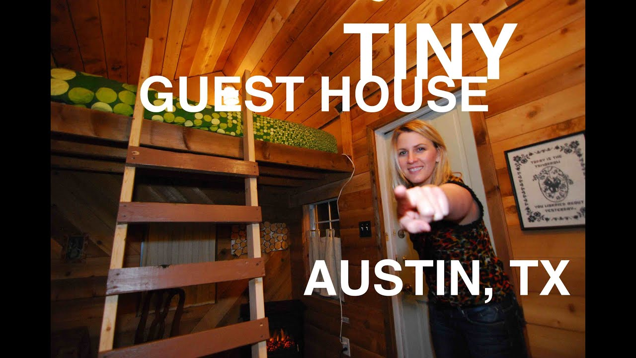Woman Converts SHED Into A Tiny House Micro Inn Austin
