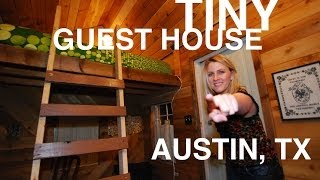 "Woman converts SHED into a Tiny House ""Micro Inn"" (Austin, TX)"
