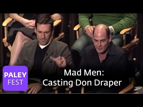 Mad Men - Casting Don Draper and Actors with Manners