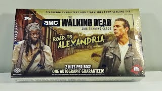 2018 Topps The Walking Dead Road to Alexandria Hobby Box Break! AWESOME!