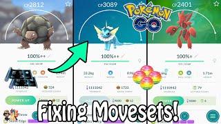 Pokémon GO   Using 20+ Fast & Charge TMs On 100% IV Pokémon!   Golem, Vaporeon, Scizor + More!