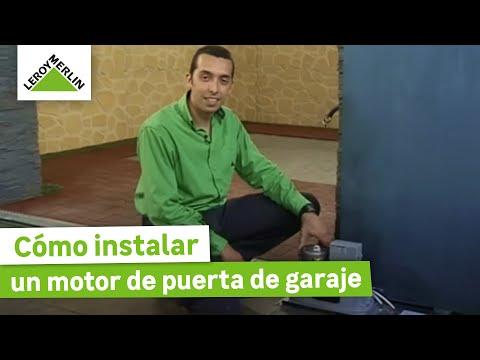 Instalar un motor de puerta de garaje Leroy Merlin  YouTube
