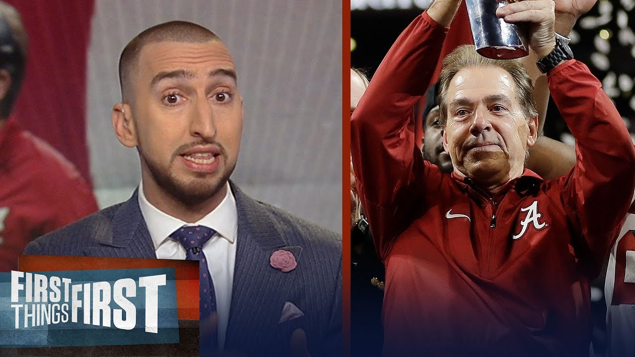 nick-wright-reacts-to-nick-saban-s-5th-title-for-the-alabama-crimson-tide-first-things-first