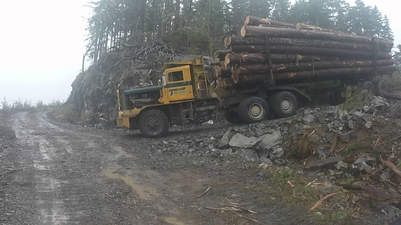 Hayes Hdx Log Truck Loaded Henderson Lake Bc Youtube