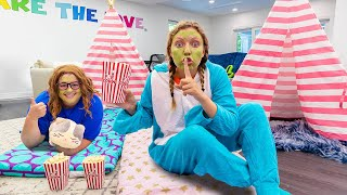 Inviting Mystery Neighbor Ellen To Sharer Family House for Extreme Sleepover!! (Interview Time)