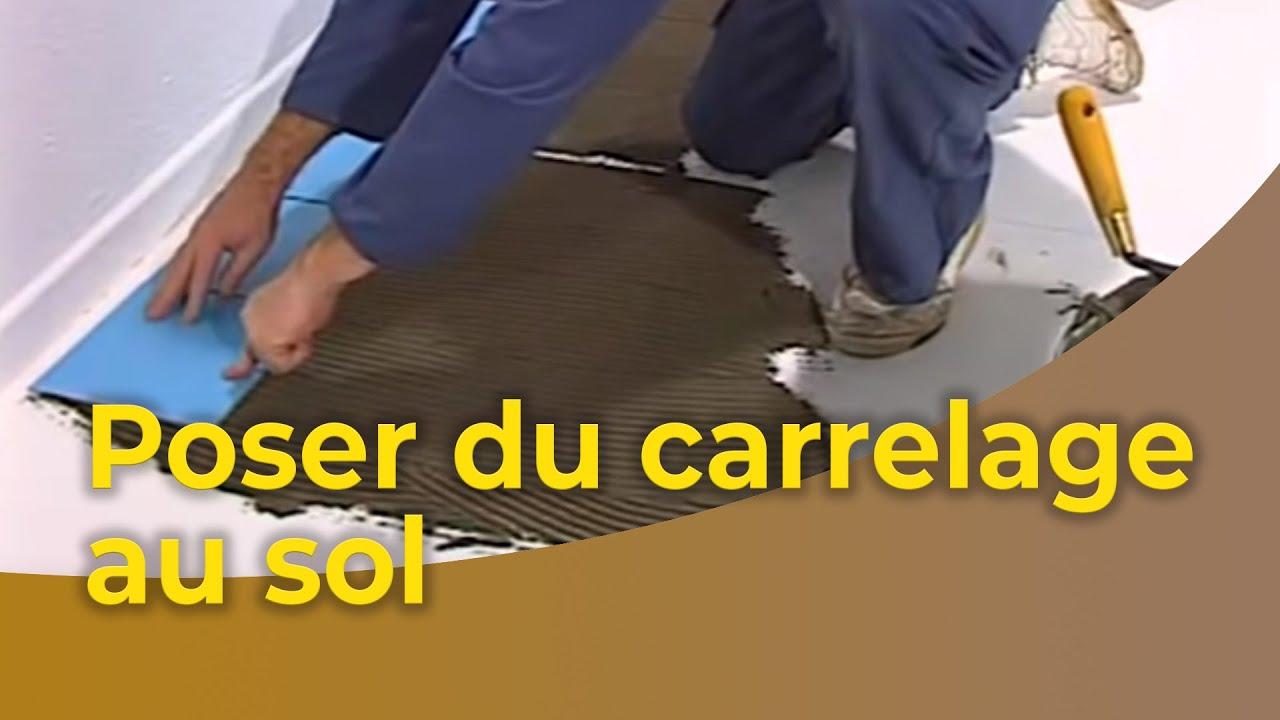 Mettre Du Lino Sur Du Carrelage comment poser un carrelage au sol ?