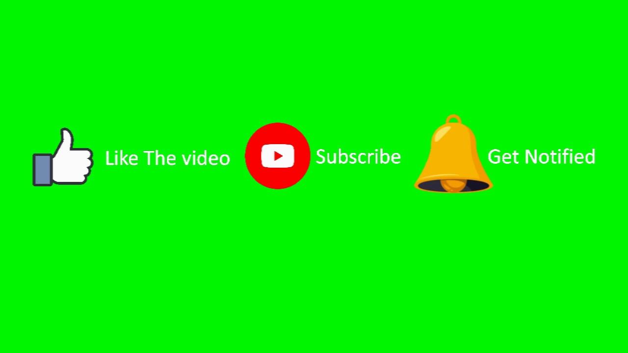 كروما لايك سبسكرايب جاهز للتحميل تحميل سبسكرايب متحرك ولايك وتفعيل الجرس علامة الاشتراك شاشة خضراء Youtube