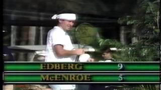 1987 John McEnroe vs. Stefan Edberg Stakes Match