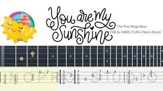 [Fingerstyle Ukulele TAB] You Are My Sunshine