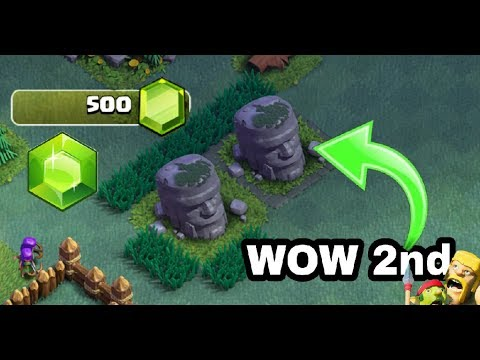 Clash Of Clan.   I Got 2nd  Old Barbarian Statue  To 250 Gems (hindi)sam1735