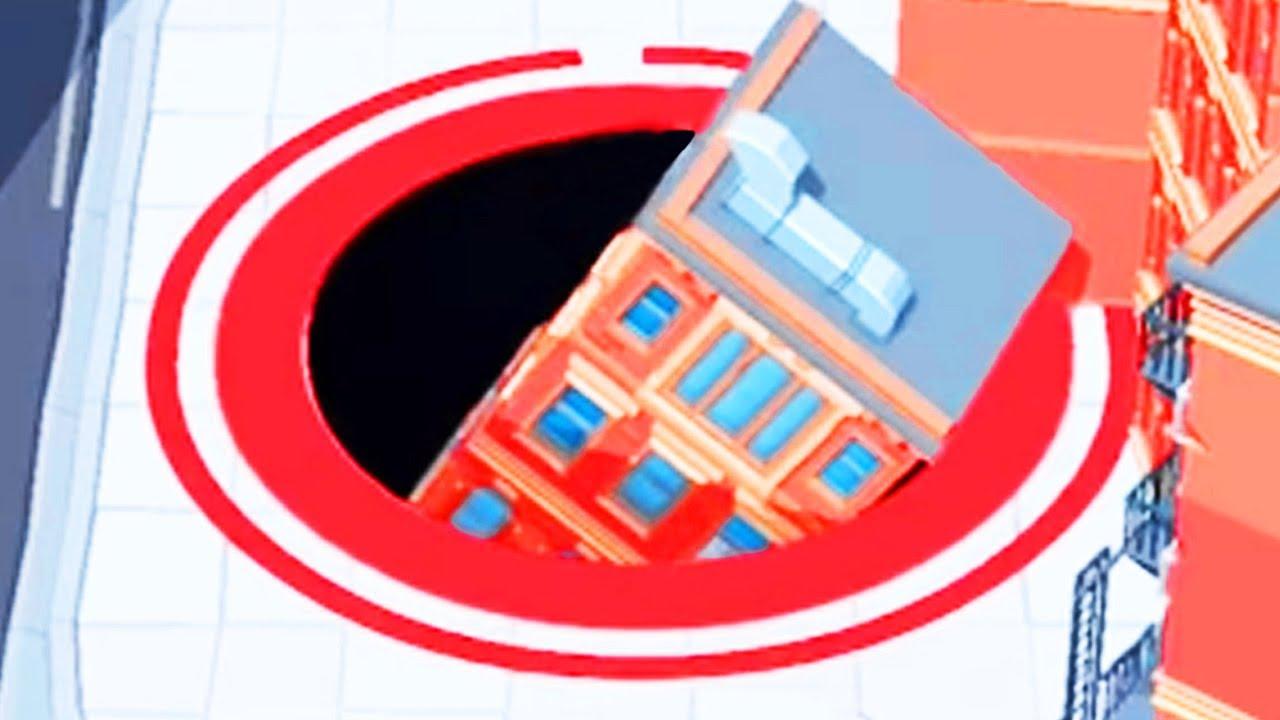 Giant Hole Swallows Buildings Hole Io Gameplay Pungence