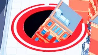 GIANT HOLE SWALLOWS BUILDINGS - Hole.io Gameplay   Pungence