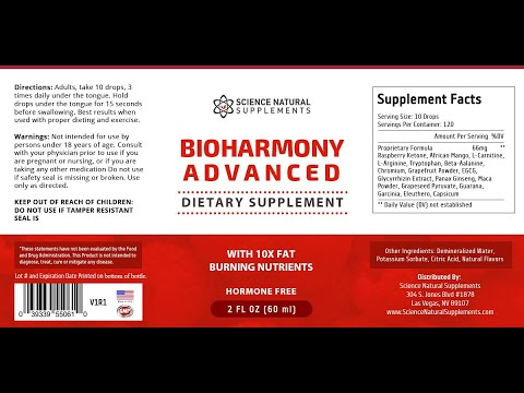 BioHarmony Advanced Reviews Update 2020 - Weight Loss Solution by Science Natural Supplements