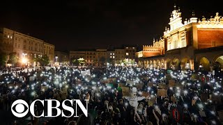 Protests continue in Poland over near-total abortion ban