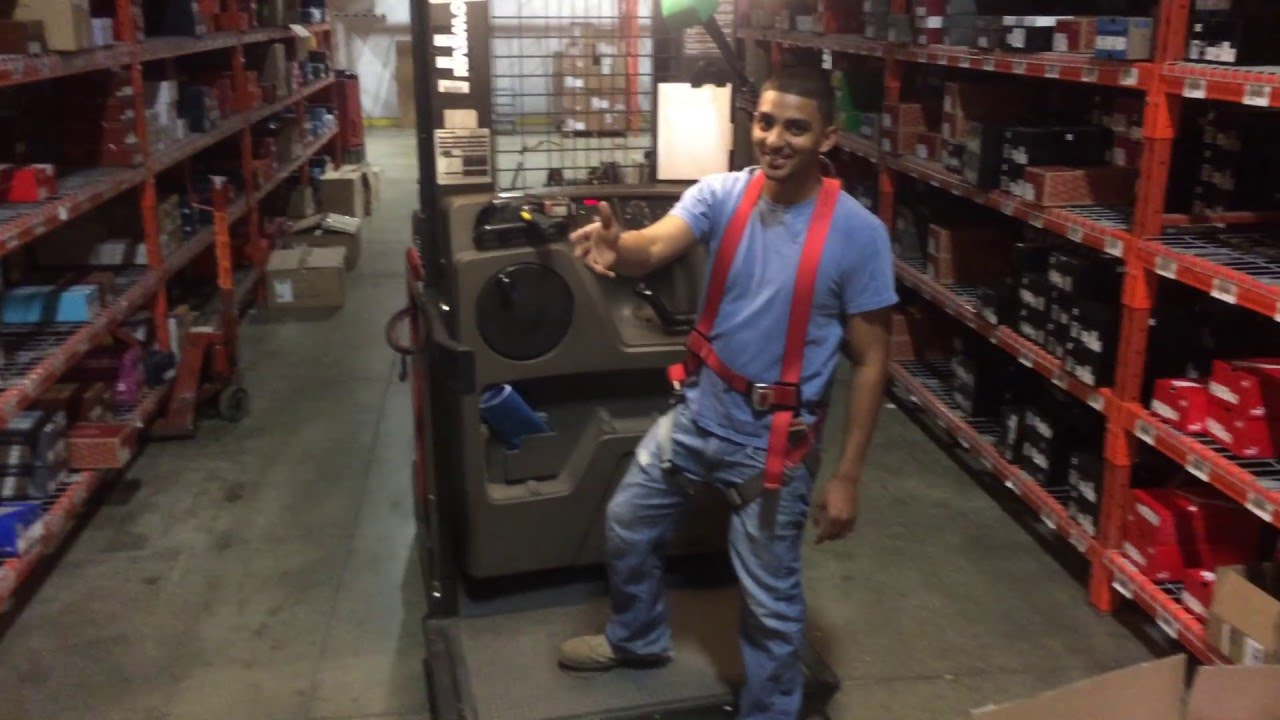 Un Official Forklift Training Video Order Picker Youtube