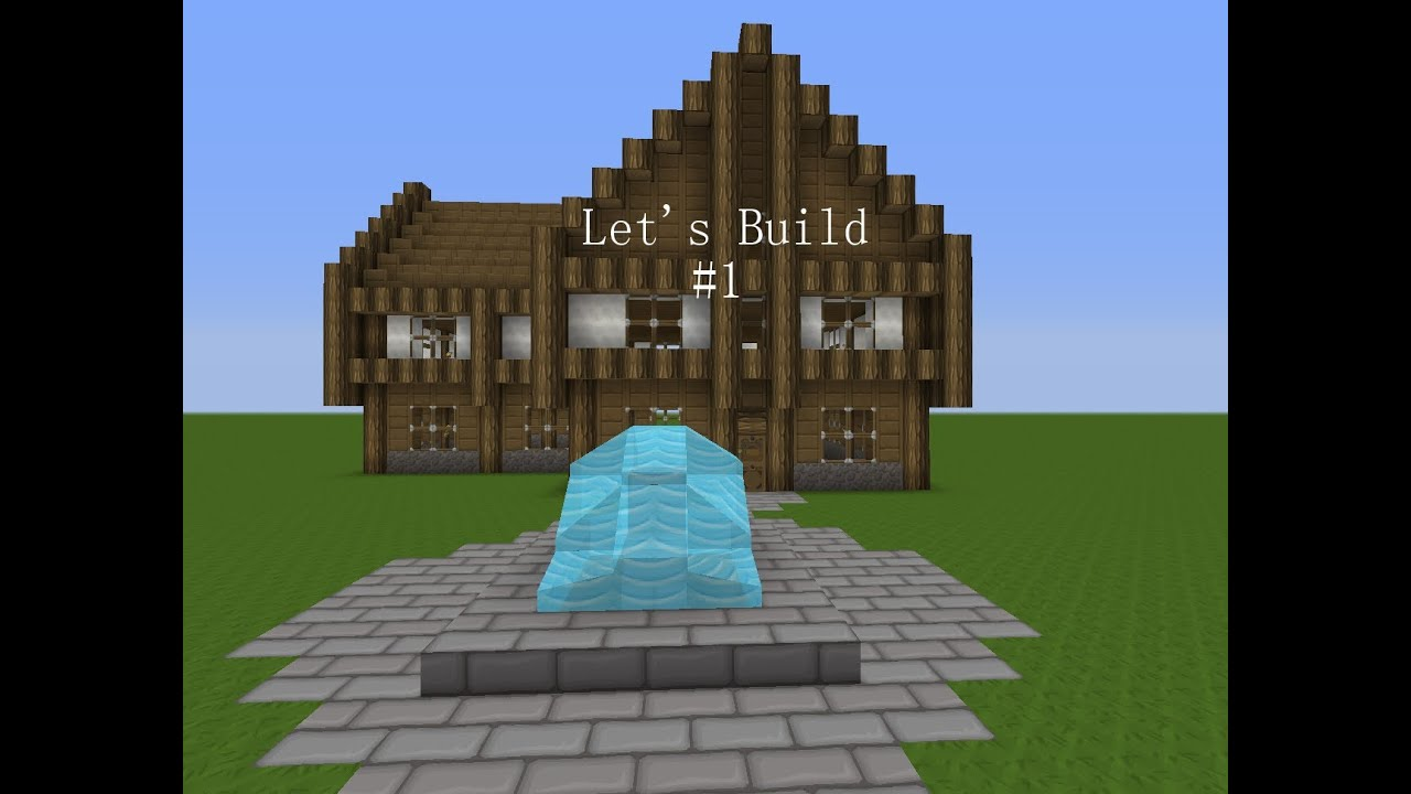 Minecraft lets build 1 mitteralterliches haus teil 2 youtube