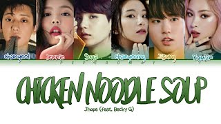 """How Would RAPPERS Sing """"CHICKEN NOODLE SOUP"""" by Jhope (Color Coded Lyrics HAN/ROM/ENG/ESP)"""