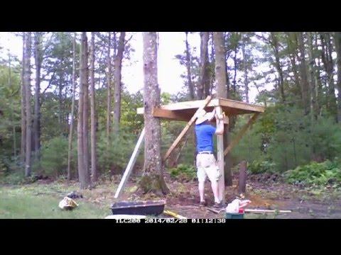 Tiny Modern Tree House- Time Lapse Build