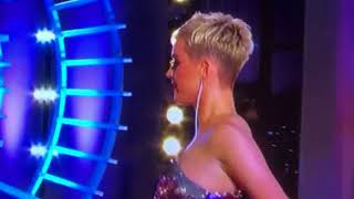 Katy Perry takes a fall and exposes herself on American Idol