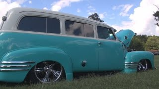 Bagged and Bad as Hell 1951 Chevy Suburban with an LS Swap
