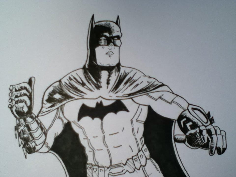 Drawing Batman, Dark Knight From DC Comics