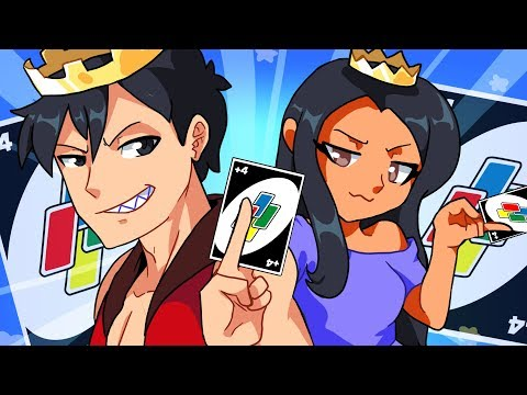 KING AND QUEEN OF UNO RETURN!! - Uno Funny Moments