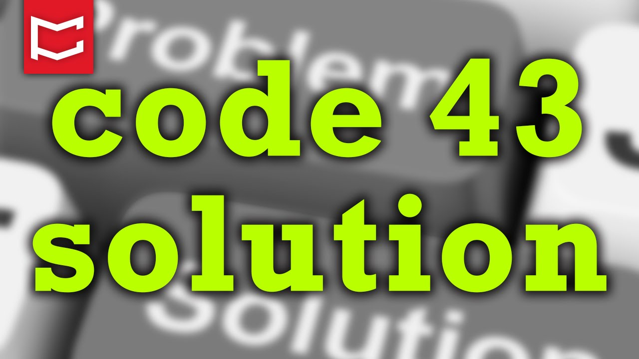 How To Fix Error Code 43 Usb Solved Youtube