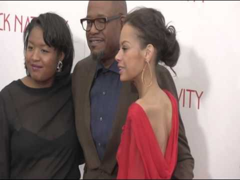 Black Nativity Forest Whitaker arrived with his wife Keisha Nash Whitaker and daugh