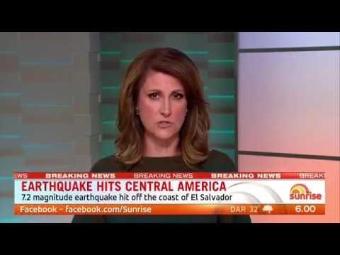 Earthquake El Salvador & Nicaragua - Central America Earthquake - Tsunami Alert