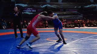 Спорт. Вольная борьба. Турнир Кожомкула-2018. День 2 Мат B (Часть 1)